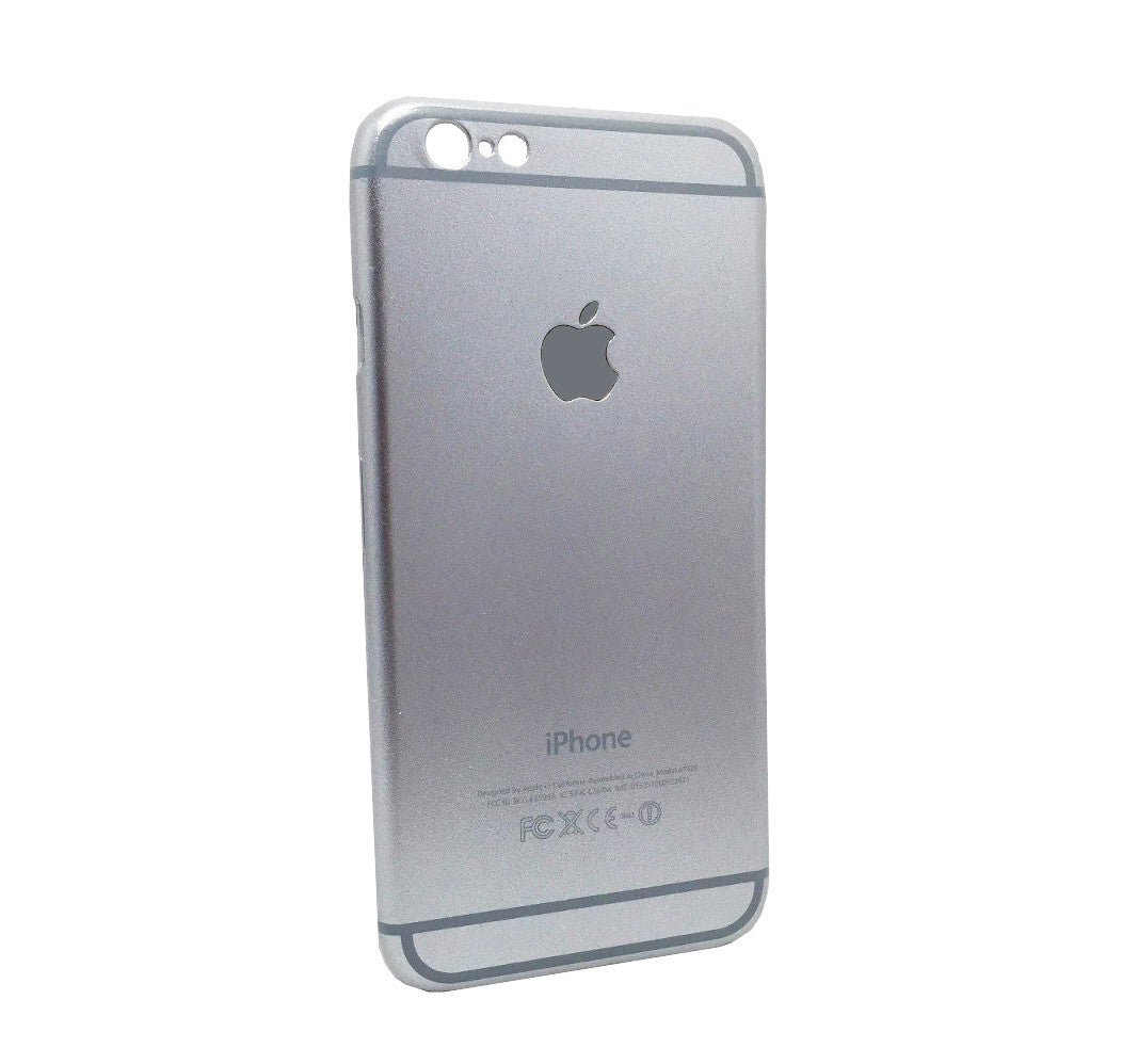 Mettallic Finish Original Design Hard Back Case Cover for iPhone 5 5S - Silver - Mobizang