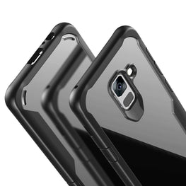 Shock Proof Armor Acrylic Transparent Back Case Cover for Samsung Galaxy S9 - Mobizang