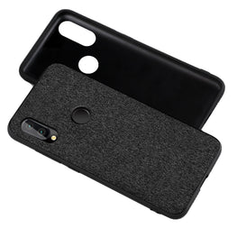 Fabric + Leather Hybrid Protective Case Cover for Huawei P20 LITE - Black - Mobizang