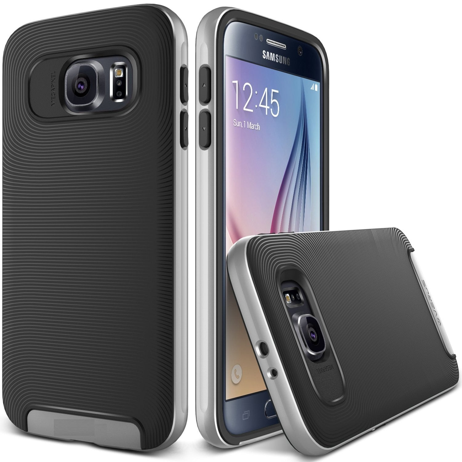 Kapa Ultra Slim Dual Layer Shockproof Back Case Cover for Samsung Galaxy S6 - Grey - Mobizang