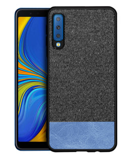 Fabric + Leather Hybrid Premium Protective Cases Cover for Samsung Galaxy A7 (2018) - Mobizang