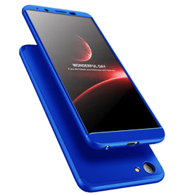 3 in 1 - 360° Full Protection Body Case Cover for VIVO V7+ [PLUS] - Blue - Mobizang