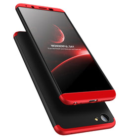 3 in 1 - 360° Full Protection Body Case Cover for VIVO V7 - Red / Black - Mobizang