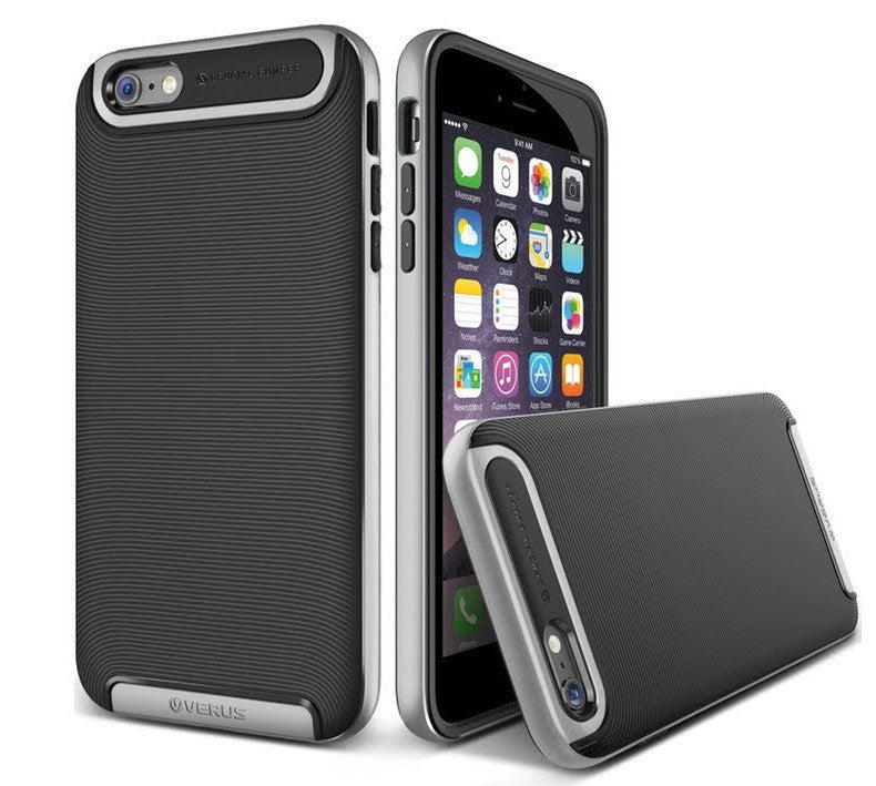 Kapa Ultra Slim Dual Layer Shockproof Back Case Cover for iPhone 5 5S - Silver - Mobizang
