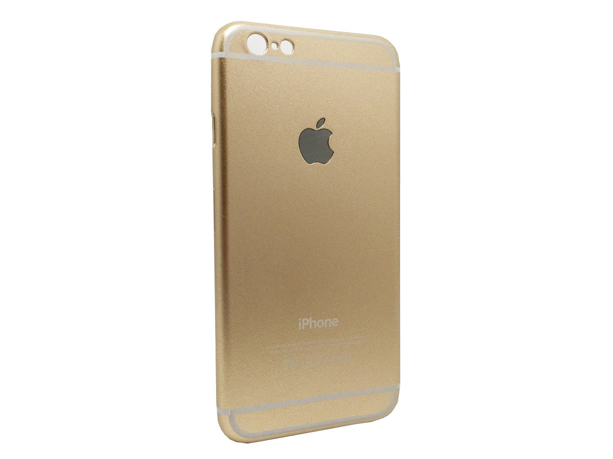 Mettallic Finish Original Design Hard Back Case Cover for iPhone 6 - Gold - Mobizang