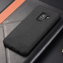Italian Super Fine Suede Fabric Luxurious Protection Case Cover for Samsung Galaxy S9 - Mobizang