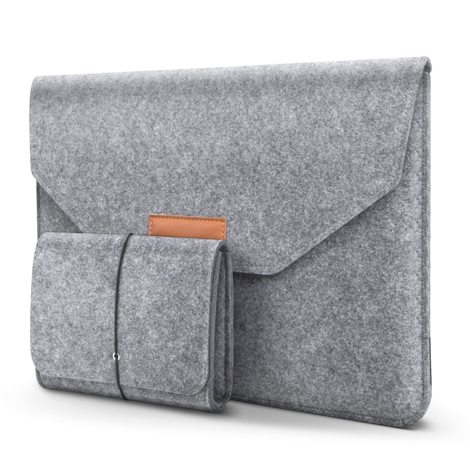 Basics Felt 13.3-Inch Sleeve Case Protective Bag with Mouse Pouch for MacBook Pro/Air/Retina 13/iPad Pro/HP/Lenovo/Acer/Dell/Asus/Samsung Chromebook and More 13-13.3 Inch Laptops - Mobizang