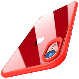 Hawkeye Clear Back Camera Lens Protector Case Cover Compatible for Apple iPhone XR - Red - Mobizang