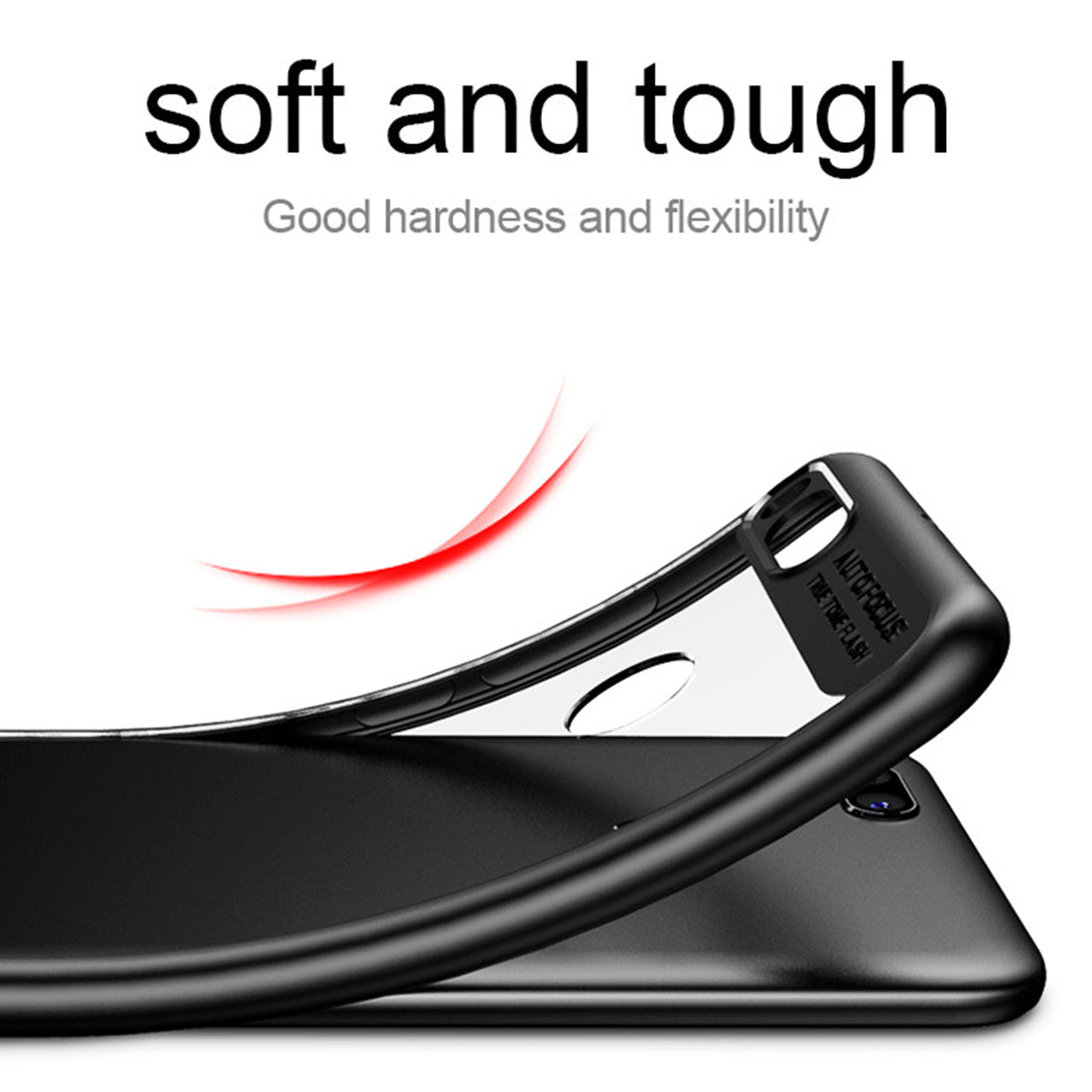 Lens Protector Clear Back Case Cover for Xiaomi Mi A1 - Black - Mobizang