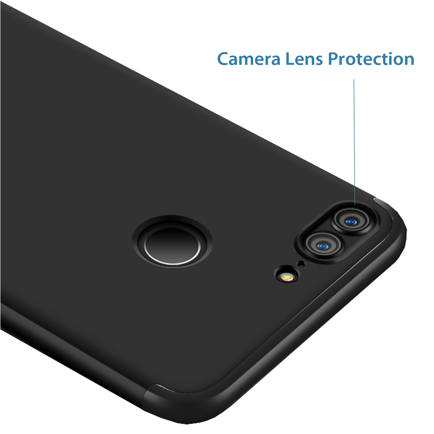 3 in 1 - 360° Full Protection Body Case Cover for Huawei Honor 9 Lite - Black - Mobizang