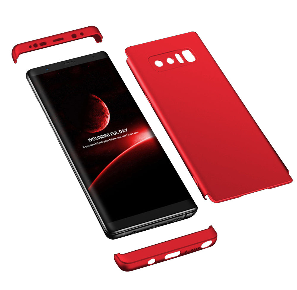 Double Dip 360 Protection Back Case Cover for Samsung Galaxy Note 8 - Red - Mobizang