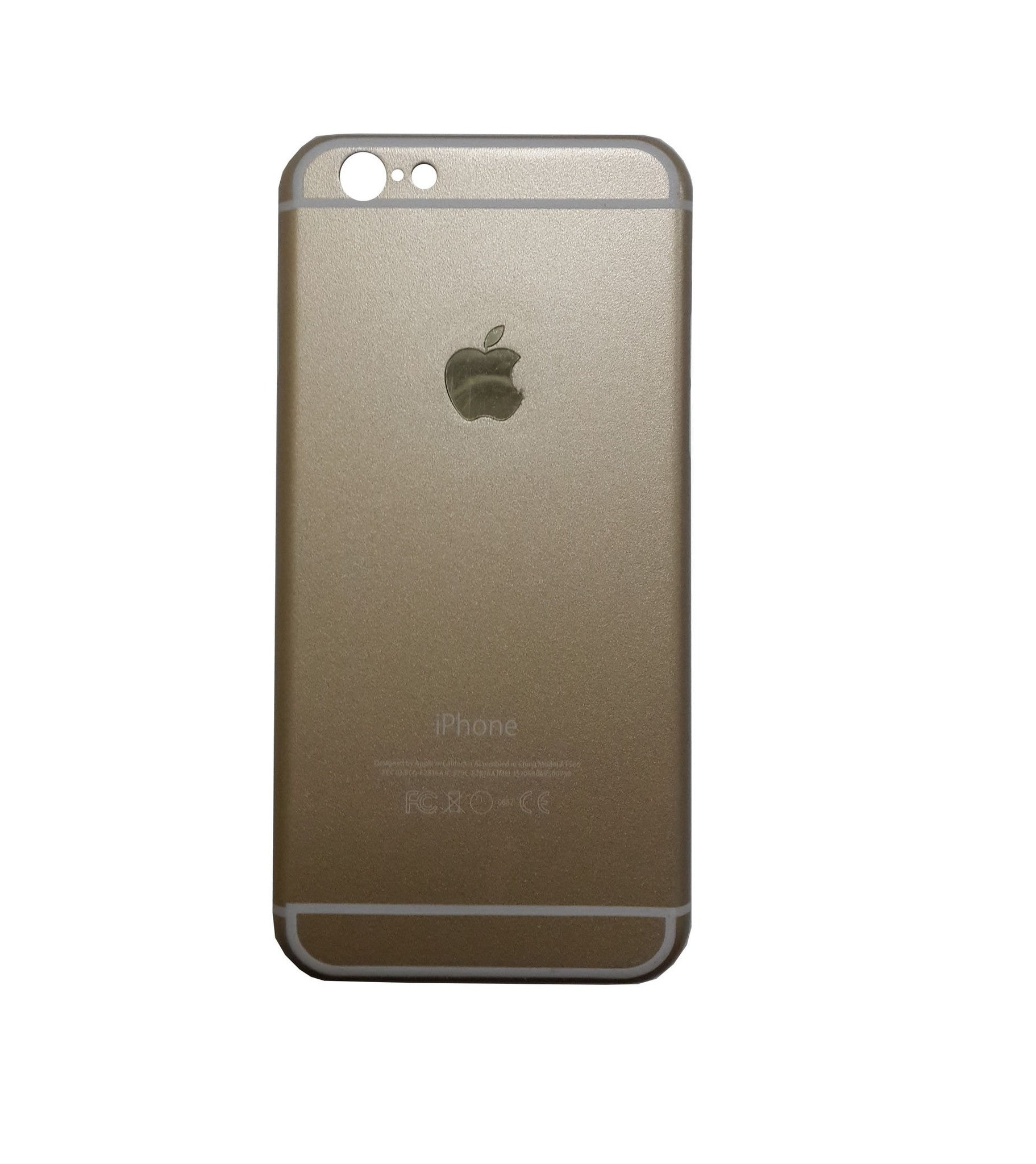 Mettallic Finish Original Design Hard Back Case Cover for iPhone 5 5S - Gold - Mobizang