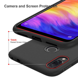 Shock Proof Anti Skid Full Protective Back Case Cover for Redmi Note 7 PRO , Note 7 , Note 7S - Black - Mobizang