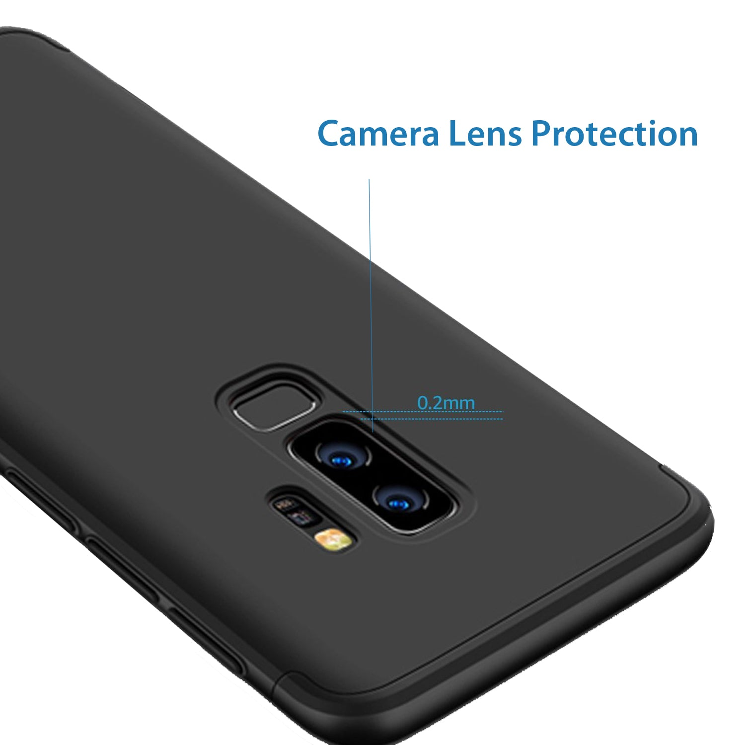 3 in 1 - 360° Full Protection Body Case Cover for Samsung Galaxy S9+ (PLUS) -  Black - Mobizang