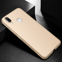 Silk Smooth Finish All Sides Coverage Back & Camera Lens Protection Slim Case Cover For Vivo V9 - Gold - Mobizang
