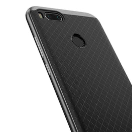 iPaky Hybrid Ultra Thin Shockproof Back + Bumper Case Cover for Xiaomi Mi A1 - Grey - Mobizang