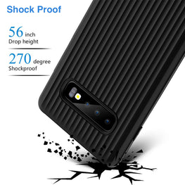 SuitCase Style Shock Proof Armor Back Cover for Samsung Galaxy S10 PLUS - Mobizang