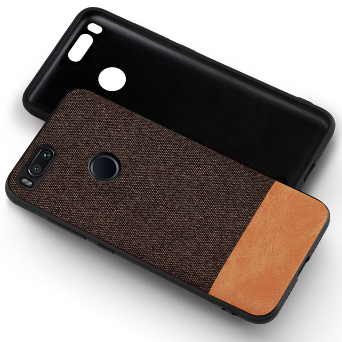 more photos 67480 5afd1 Fabric + Leather Hybrid Protective Case Cover for Xiaomi Mi A1 ...
