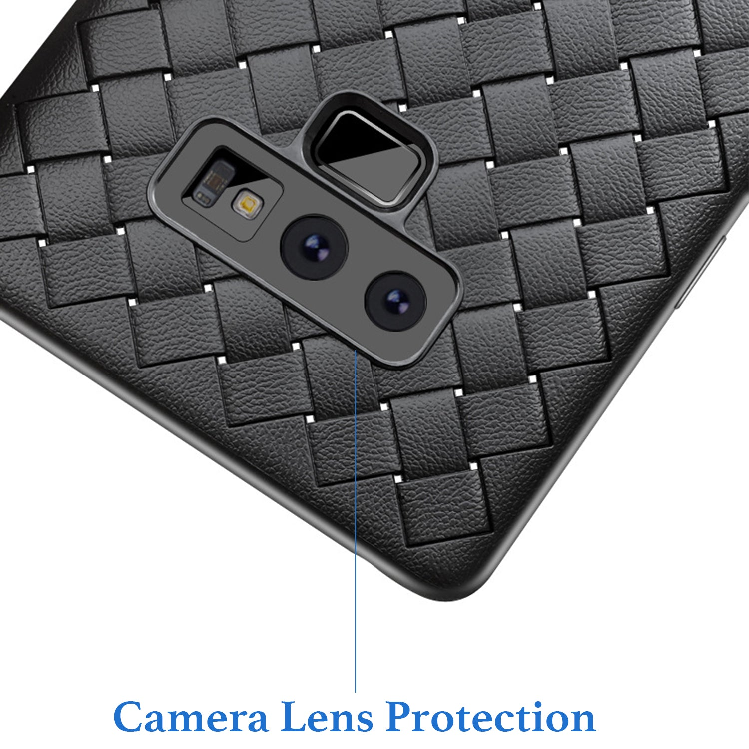 Anti Skid Weave Pattern Shock Proof Flexible Back Case Cover for Samsung Galaxy Note 9 - Mobizang