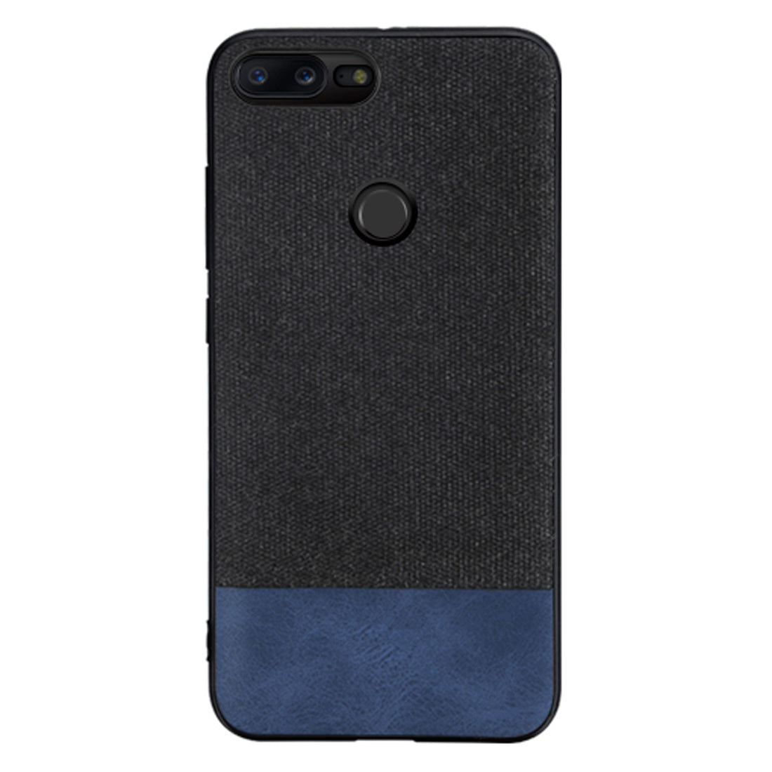 Fabric + Leather Hybrid Protective Case Cover for Oneplus 5T -  Black , Blue - Mobizang