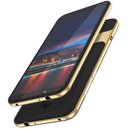 Shock Proof Stand Back Case Cover for Xiaomi Redmi Note 5 - Gold - Mobizang