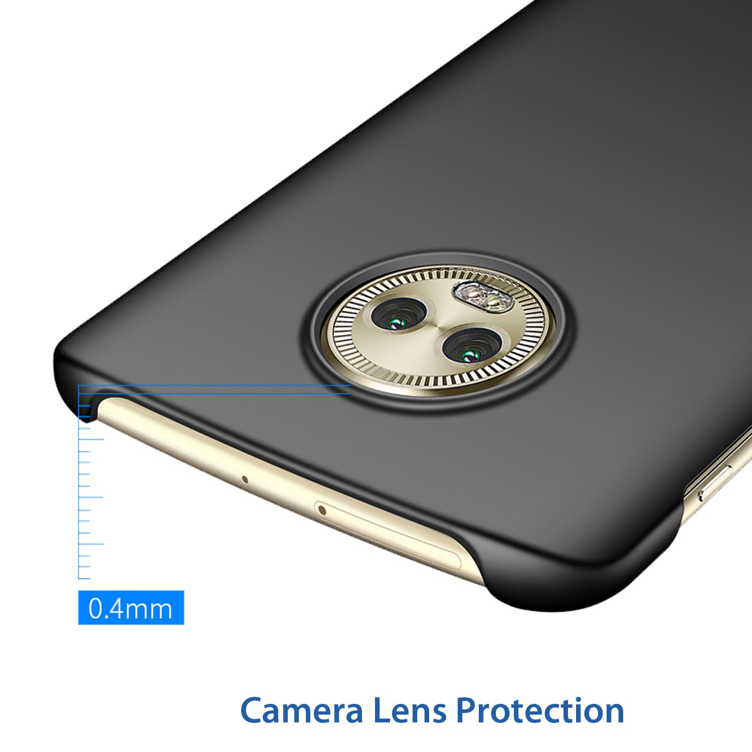 Silk Smooth Finish [Full Coverage] All Sides Protection Slim Back Case Cover For Moto G6 - Black - Mobizang