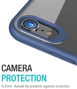 Hawkeye Clear Back Camera Lens Protector Case Cover Compatible for Apple iPhone XR - Blue - Mobizang