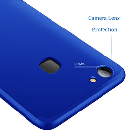 3 in 1 - 360° Full Protection Body Case Cover for VIVO V7 - Blue - Mobizang