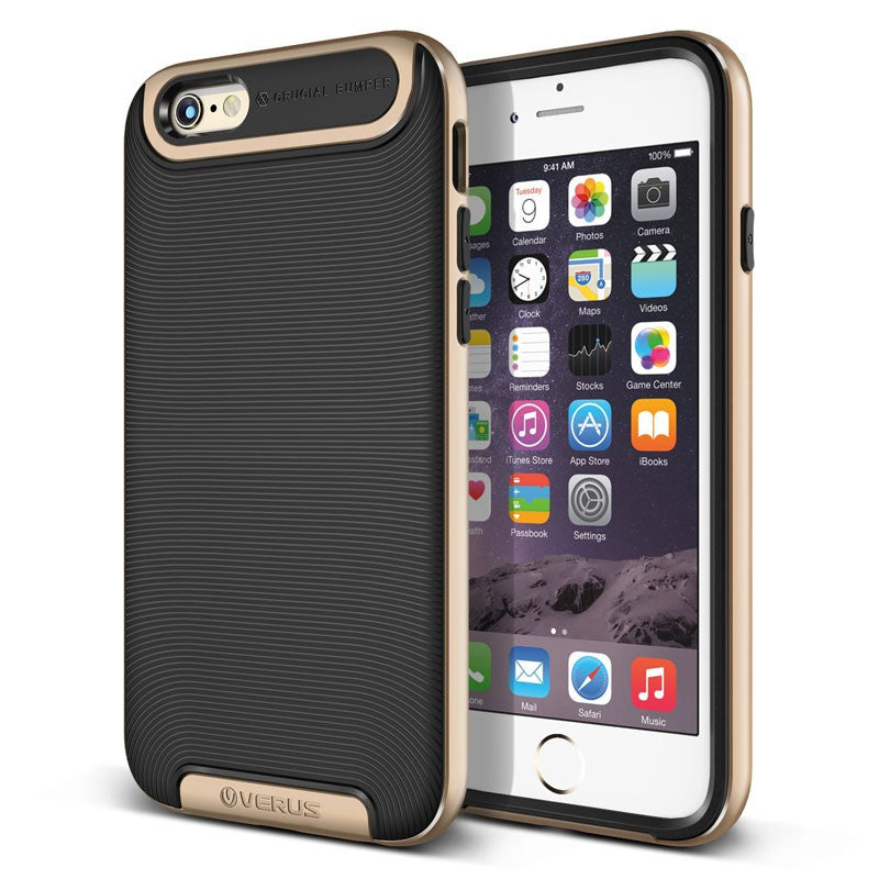 Kapa Ultra Slim Dual Layer Shockproof Back Case Cover for iPhone 5 5S - Gold - Mobizang