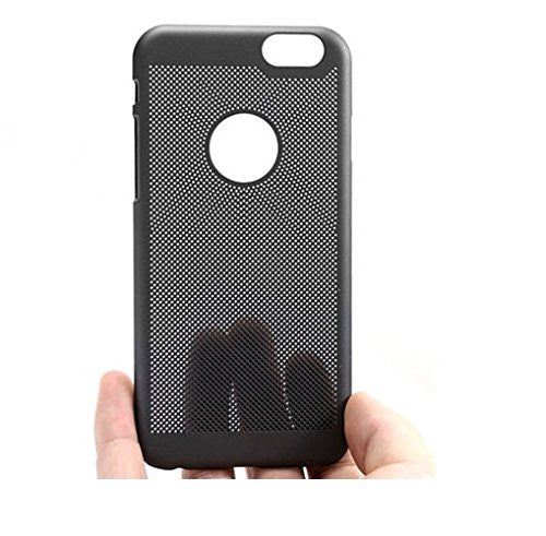 Loopee Heat Dissipation Hollow Thin Hard Back Case Cover for iPhone 5 5S - Black - Mobizang
