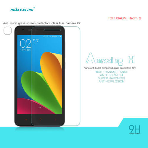 Nillkin Anti Explosion Tempered Glass Screen Protector For Xiaomi Redmi 2 - Mobizang
