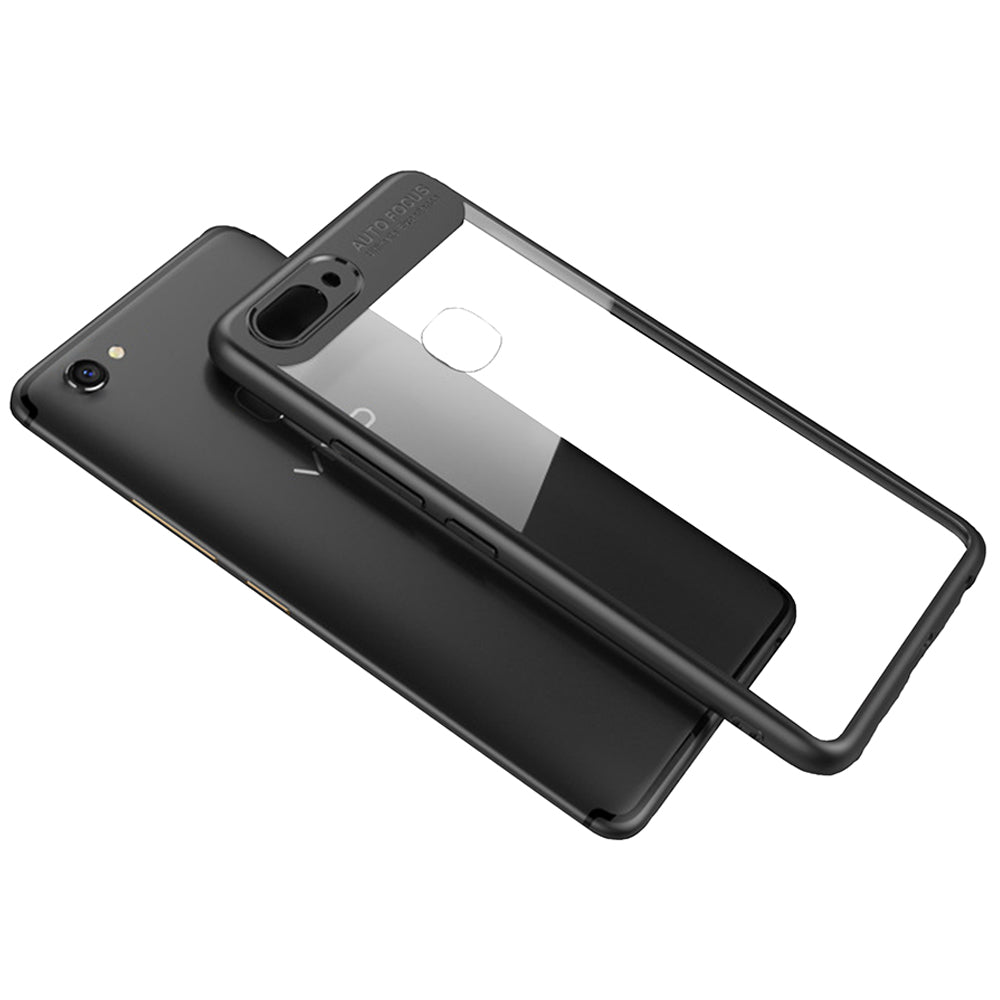 Lens Protector Clear 360° Protection Back Case Cover for Vivo V7 + (Plus) - Black - Mobizang