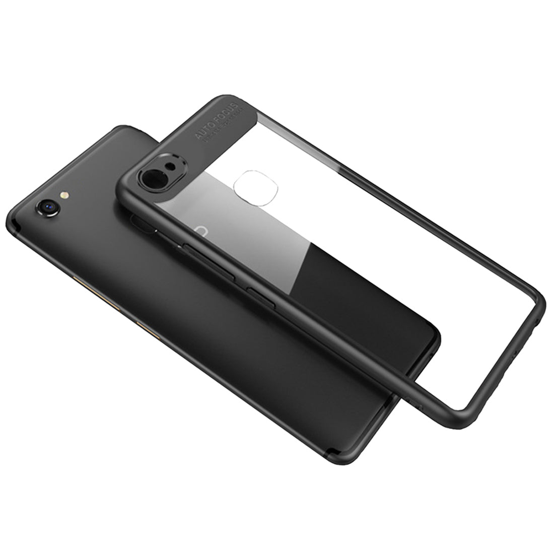 Lens Protector Clear 360° Protection Back Case Cover for Oppo F5 - Black - Mobizang