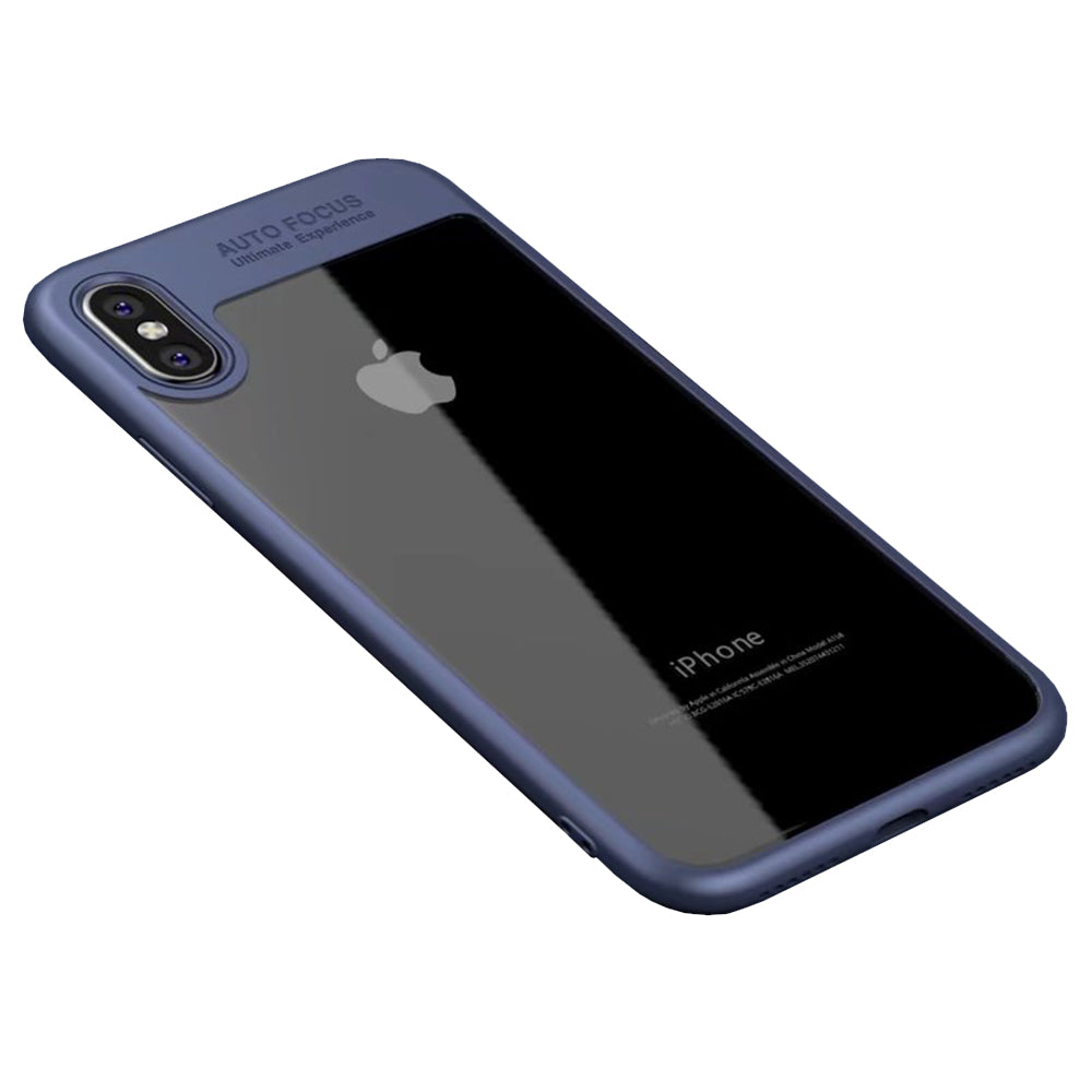 Clear Back Complete Lens Protector Case Cover for Apple iPhone X - Blue - Mobizang