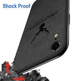Deer Case Fabric Shock Proof Hybrid Back Cover For Apple iPhone XR - Mobizang