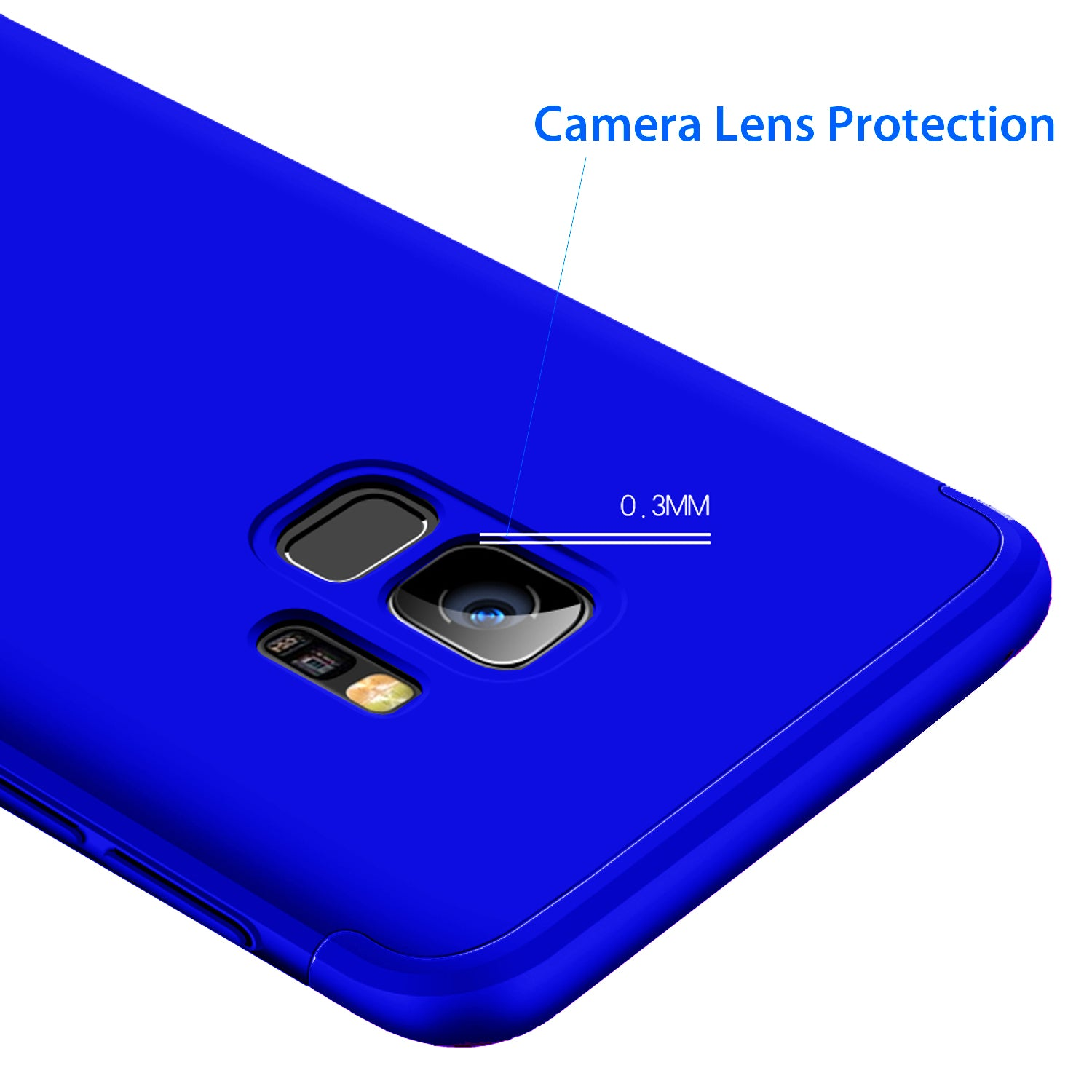3 in 1 - 360° Full Protection Body Case Cover for Samsung Galaxy S9 - Blue - Mobizang