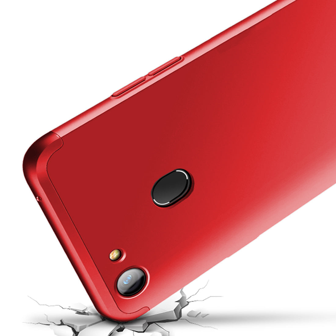 3 in 1 - 360° Full Protection Body Case Cover for Oppo F5 / F5 Youth  - Red - Mobizang
