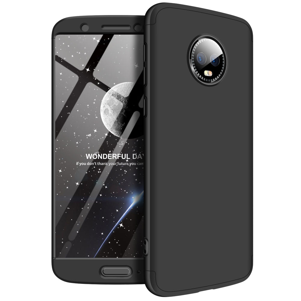 3 in 1 - 360° Full Protection Body Case Cover for MOTO G6 - Black - Mobizang