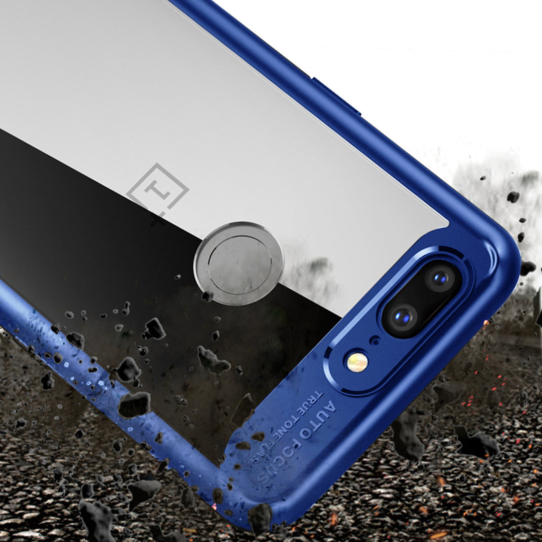 Lens Protector Clear Back Case Cover for ONEPLUS 5T / ONE PLUS 5T - Blue - Mobizang