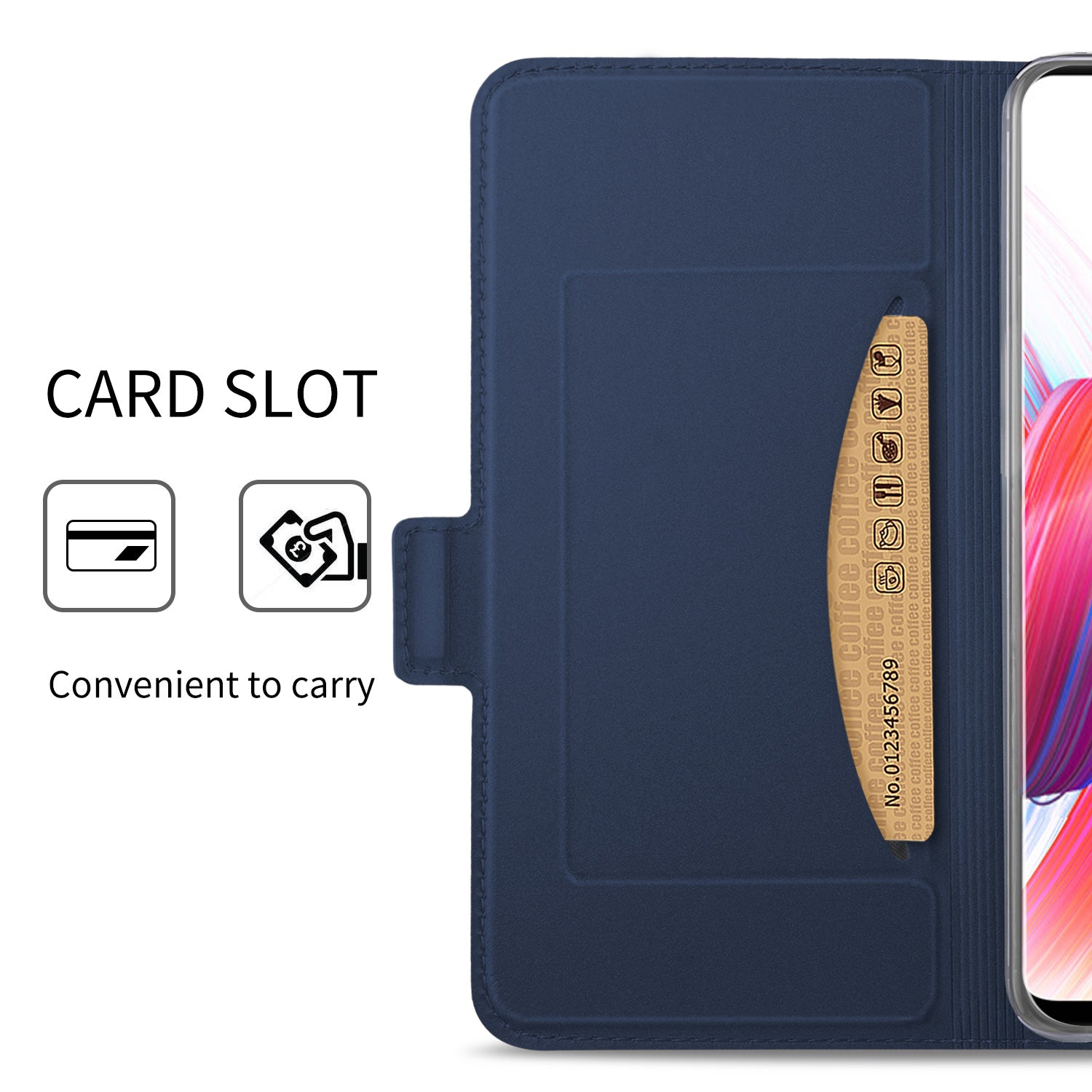 Noble Slim Magnetic & Card Holder Stand Leather Flip Case Cover for Samsung Galaxy S10 Plus - Blue - Mobizang