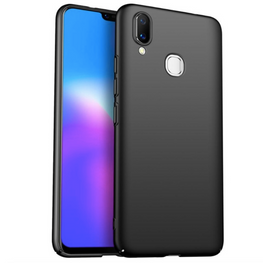 Silk Smooth Finish All Sides Coverage Back & Camera Lens Protection Slim Case Cover For Vivo V9 - Black - Mobizang
