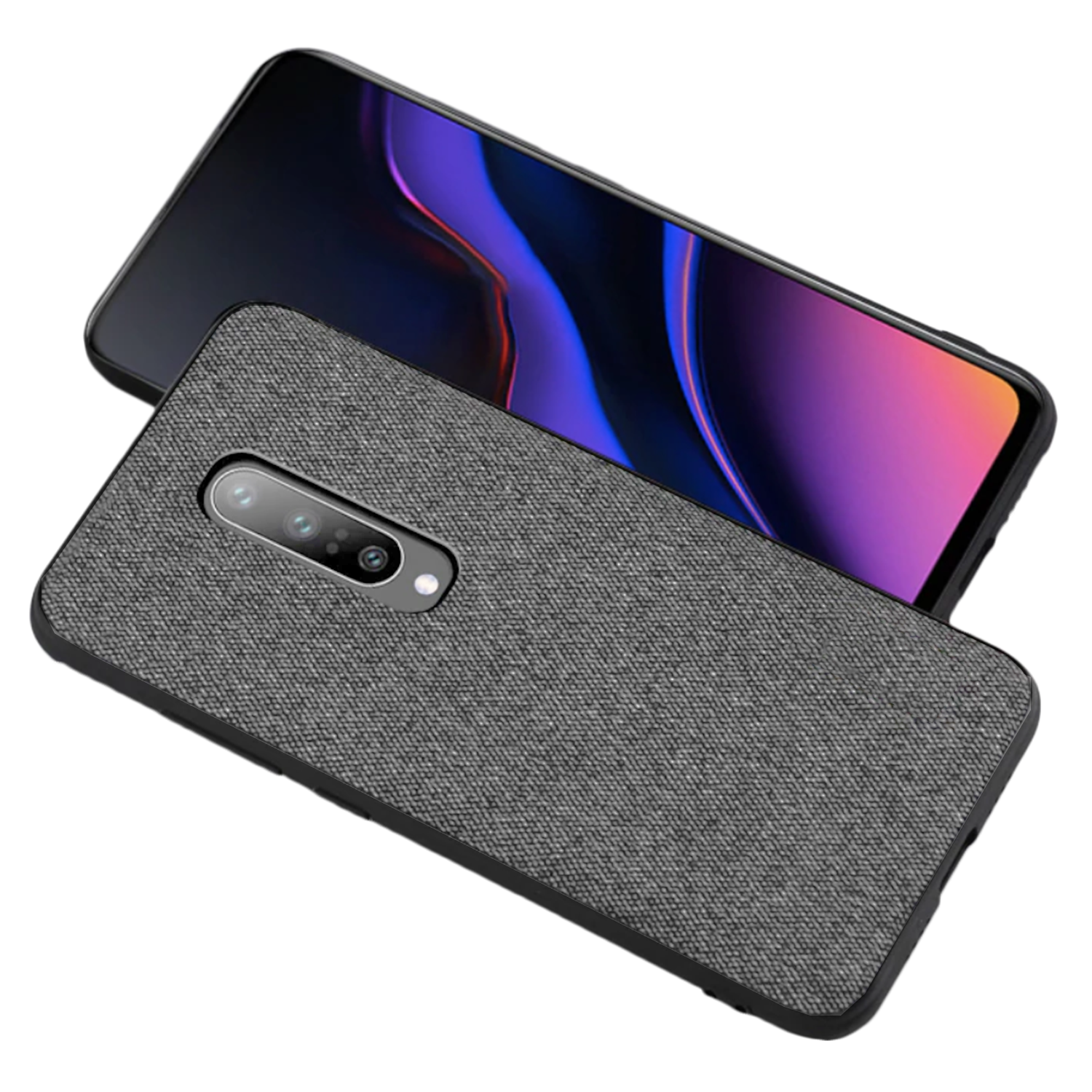 Fabric & Leather Hybrid Premium Protective Cases Cover for Oneplus 7 PRO - Mobizang