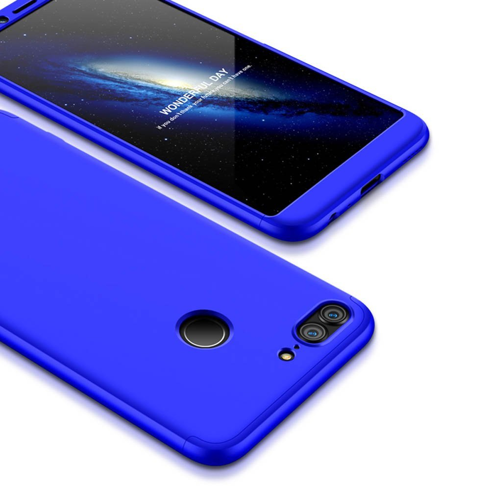 3 in 1 - 360° Full Protection Body Case Cover for Huawei Honor 9 Lite - Blue - Mobizang