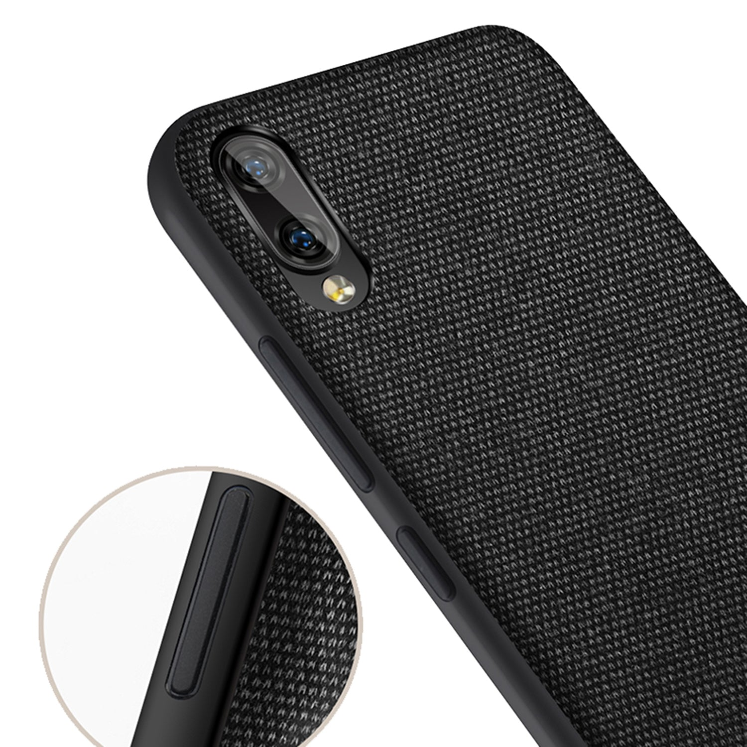 Fabric + Leather Hybrid Premium Protective Cases Cover for Vivo V11 Pro - Mobizang