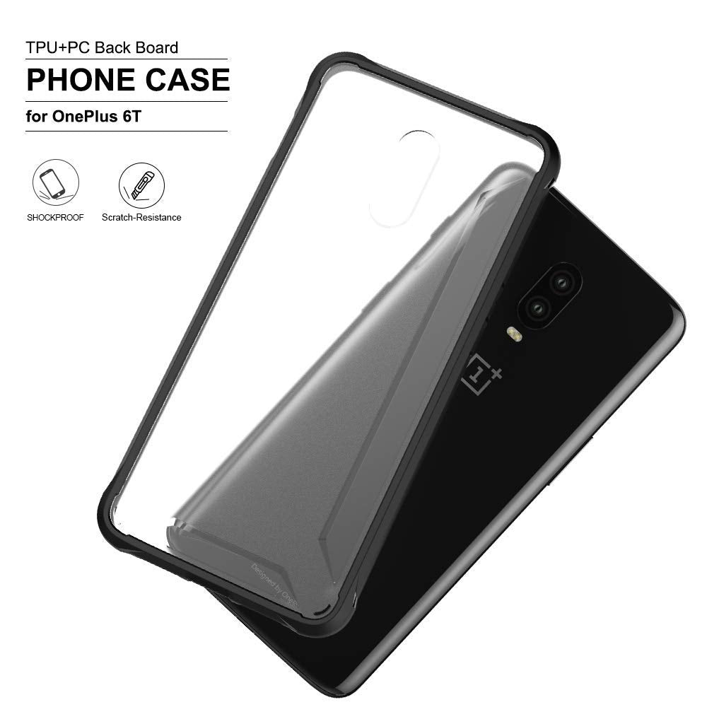 Armor Solid [Shock Proof][Anti Scratch] Slim Rugged Back Cover Case for OnePlus 6T - Mobizang