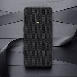 Woven Nylon Anti Slip Shock Resistant Luxury Grip Case for Oneplus 6T - Mobizang