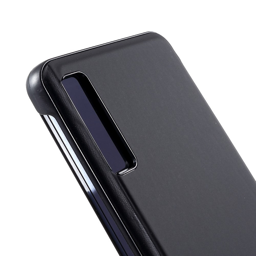Semi Transparent Mirror View Clear Flip Luxury Case Cover for Samsung Galaxy A7 (2018) - Mobizang