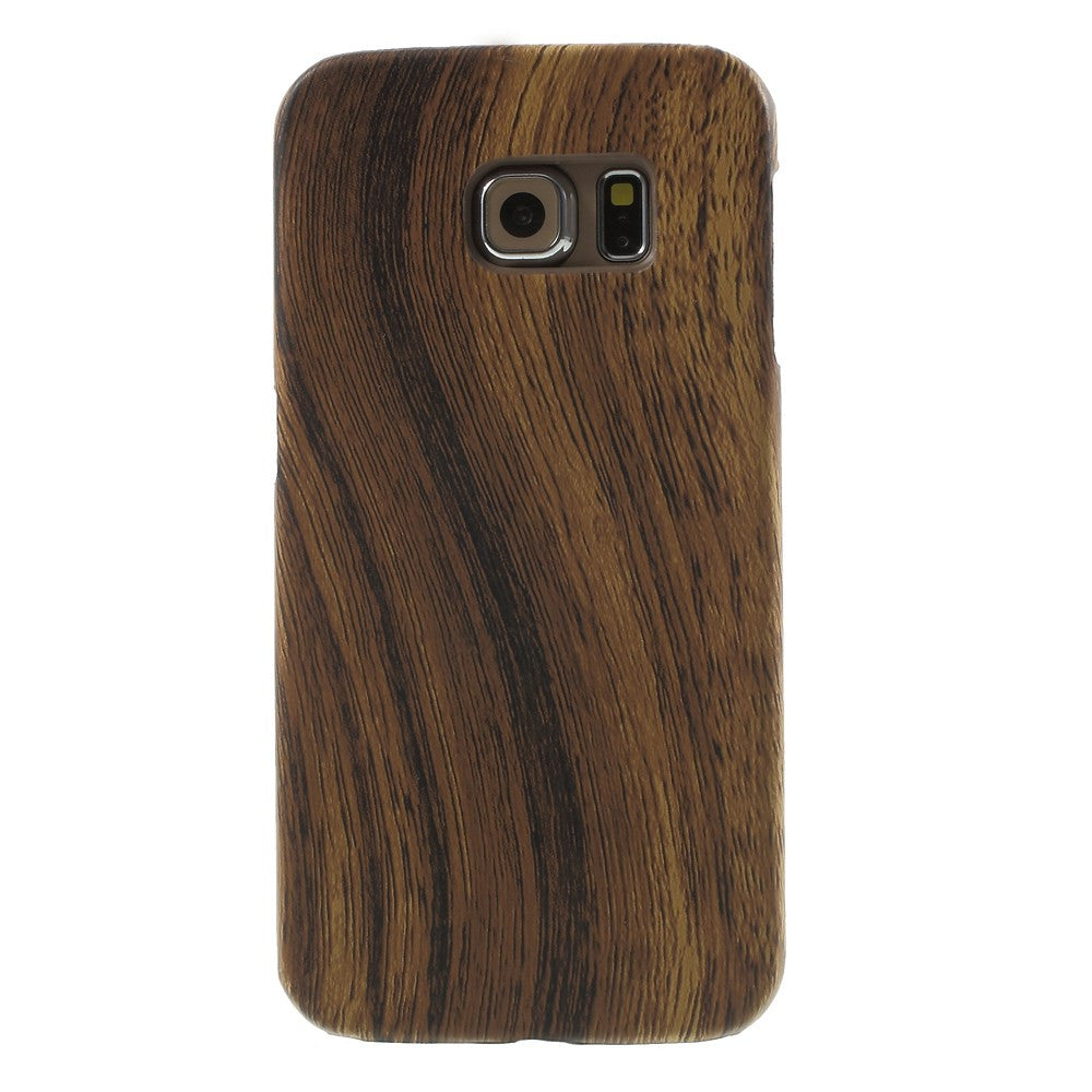 Kapa Wood Pattern Hard Case Back Cover For Samsung Galaxy S6 Edge - Mobizang