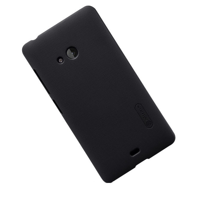 Nillkin Frosted Shield Hard Back Case Cover for Microsoft Lumia 540 + Screenguard - Black - Mobizang