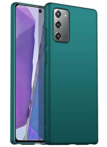 Silk Smooth Finish [Full Coverage] All Sides Protection Slim Back Case Cover for Samsung Galaxy Note 20 (Green)